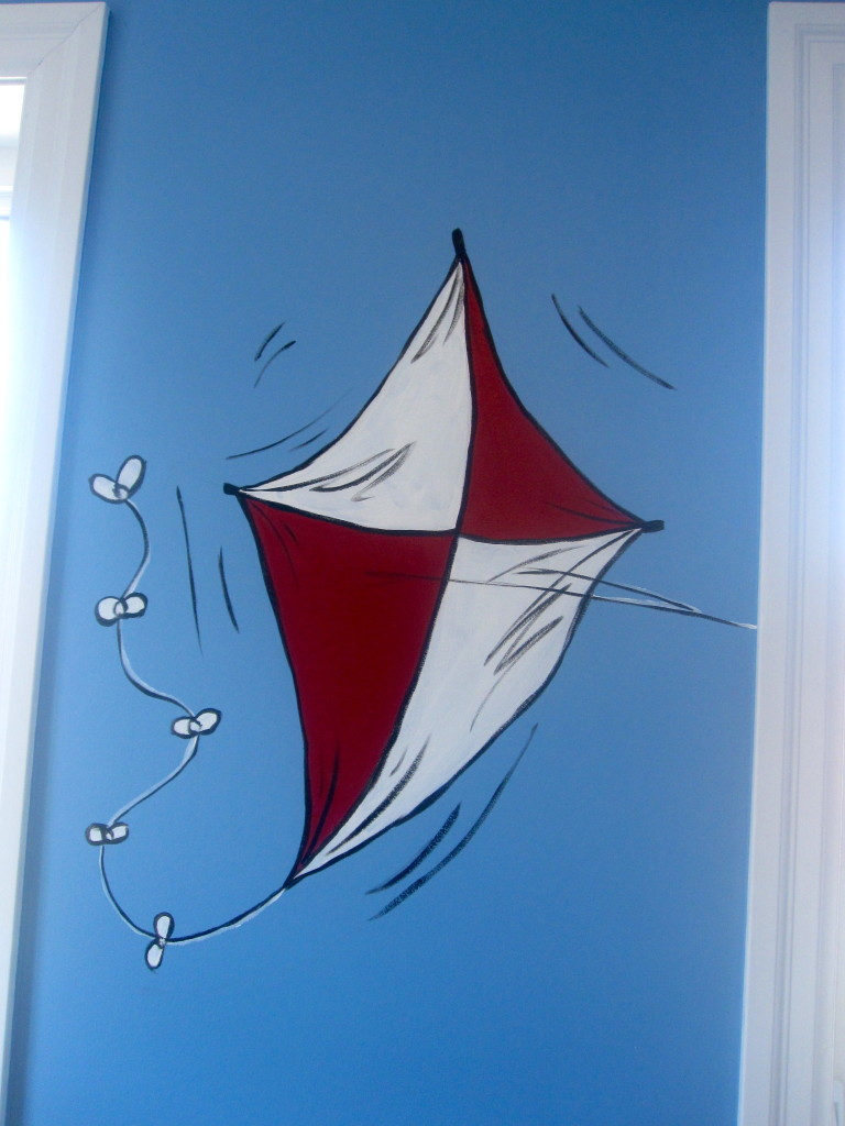 Dr seuss cat in the hat mural nursery child 39 s room for Dr seuss nursery mural