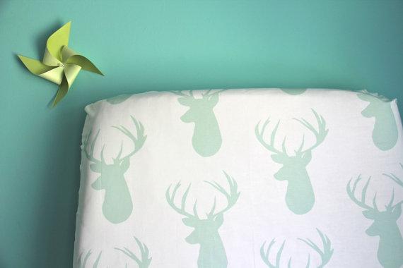 Deer fitted sheet