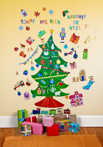 Rosenberry Rooms happy holidays peel and Place wall stickers