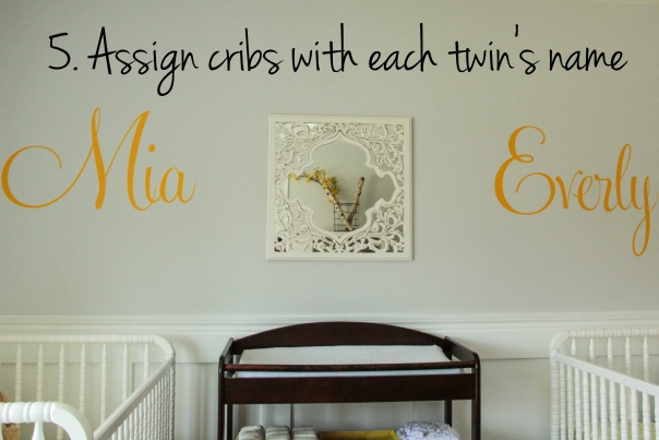 Twins nursery-90 cribs names