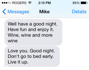Mike's text