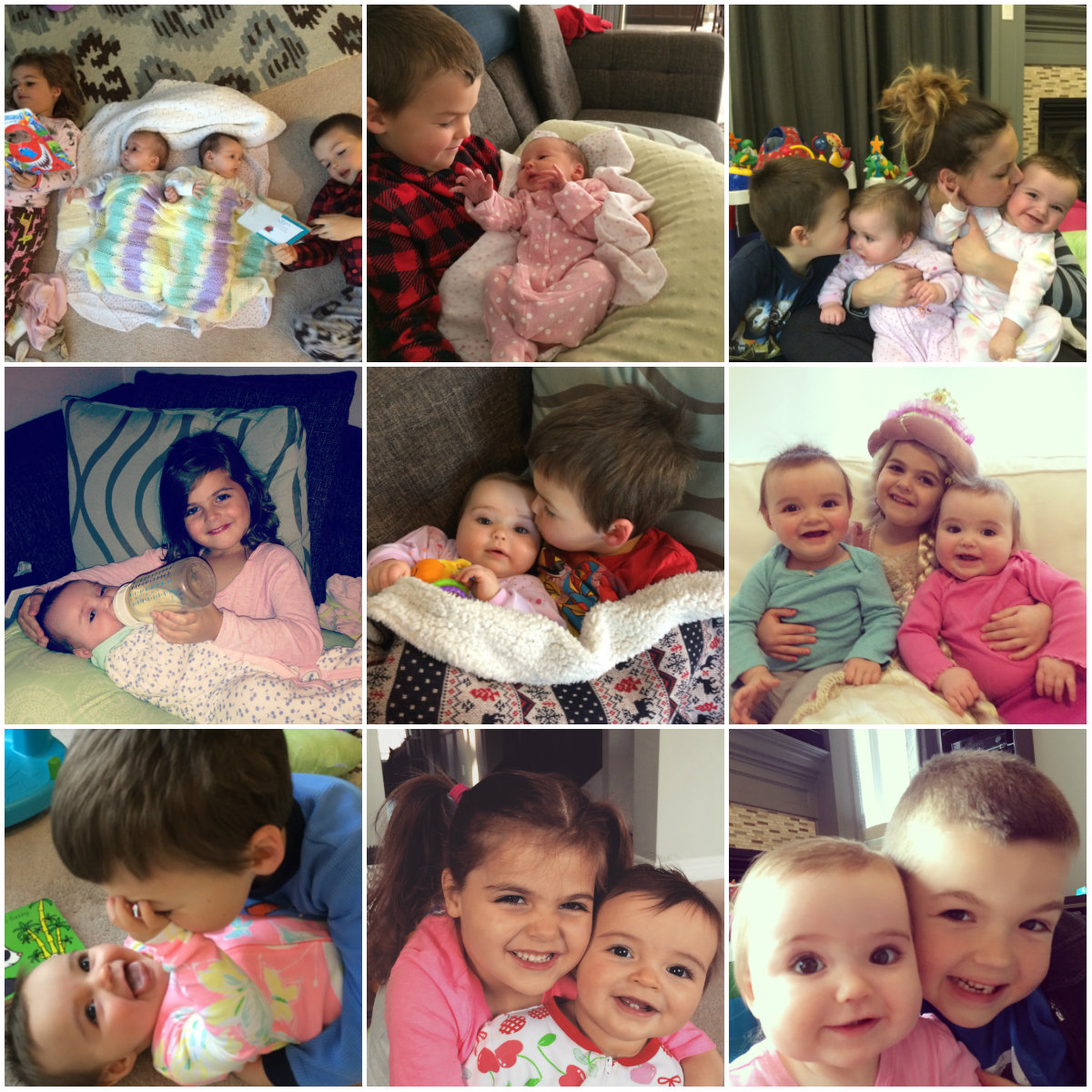 Happy Birthday Mia and Everly Collage 2