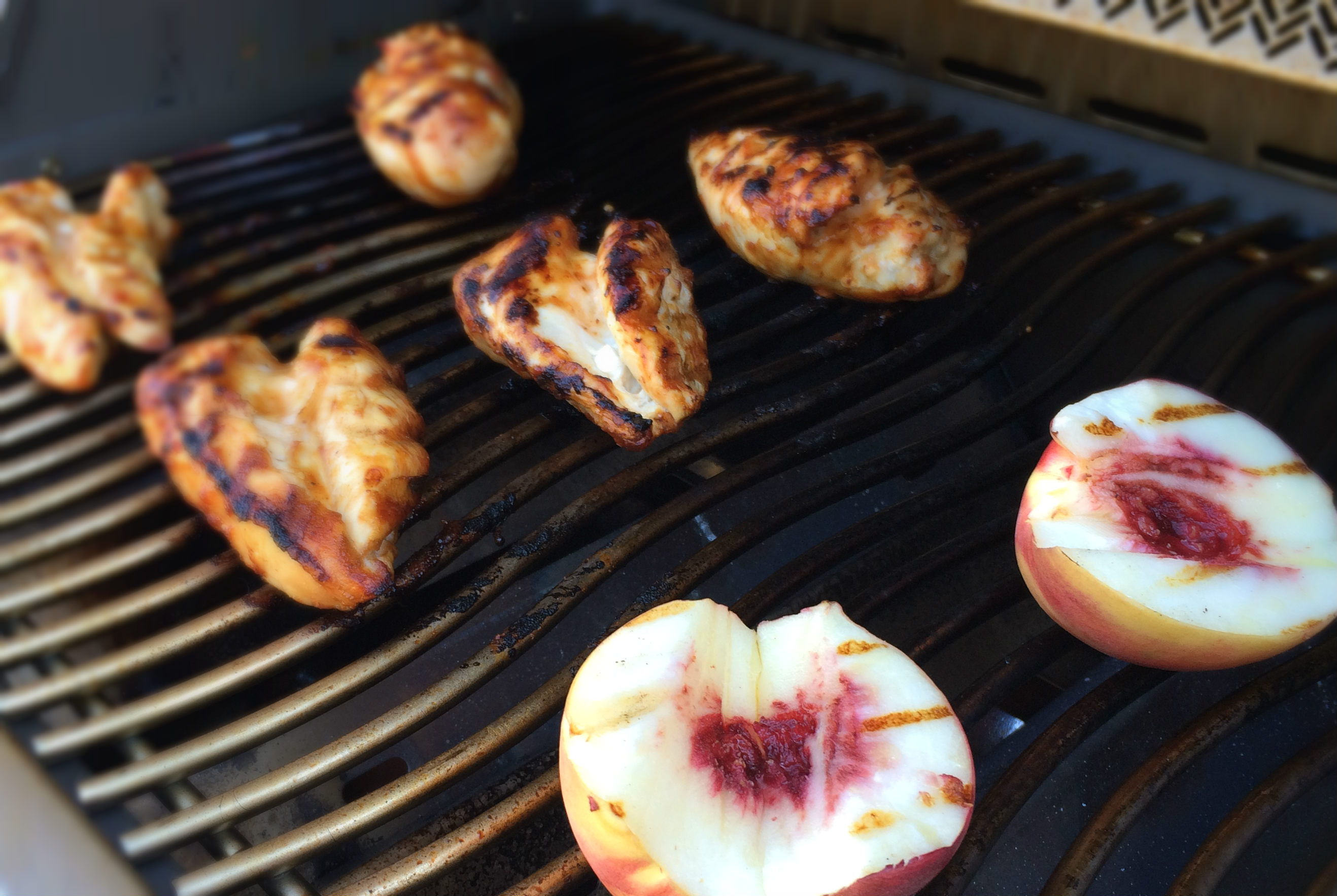 Barbeque Peaches and Chicken