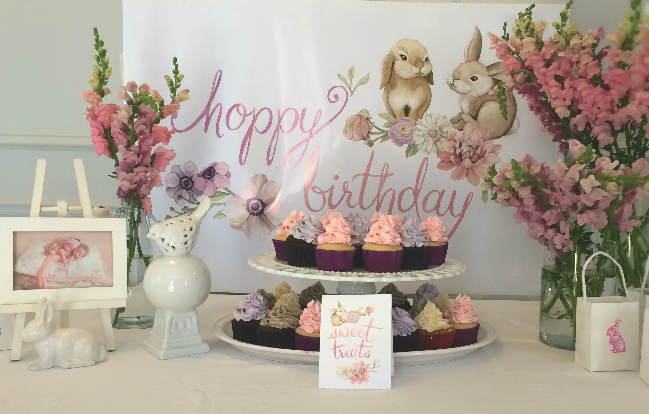 Bunny Birthday Party Decor