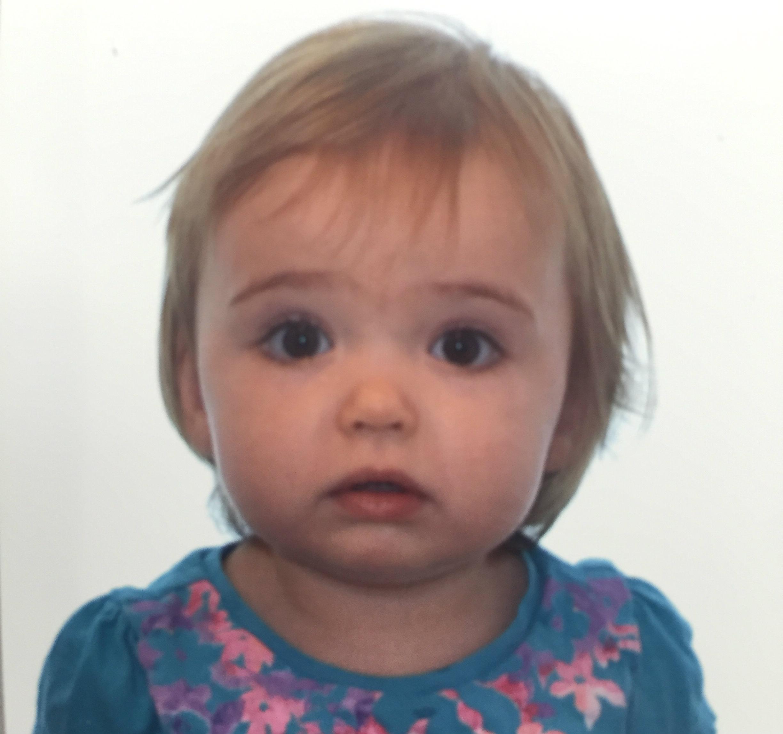 Mia's passport photo