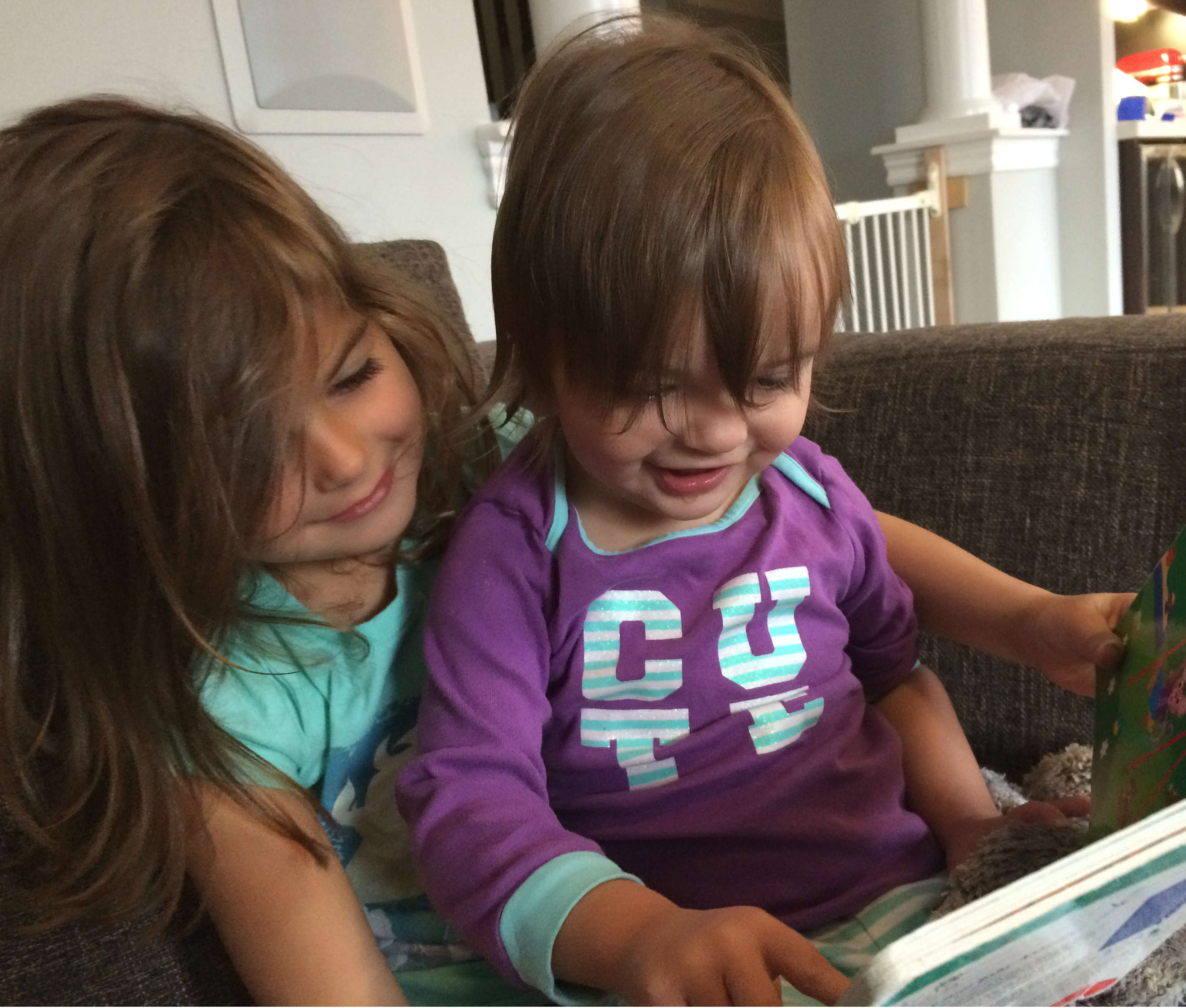 Beau reading to Everly