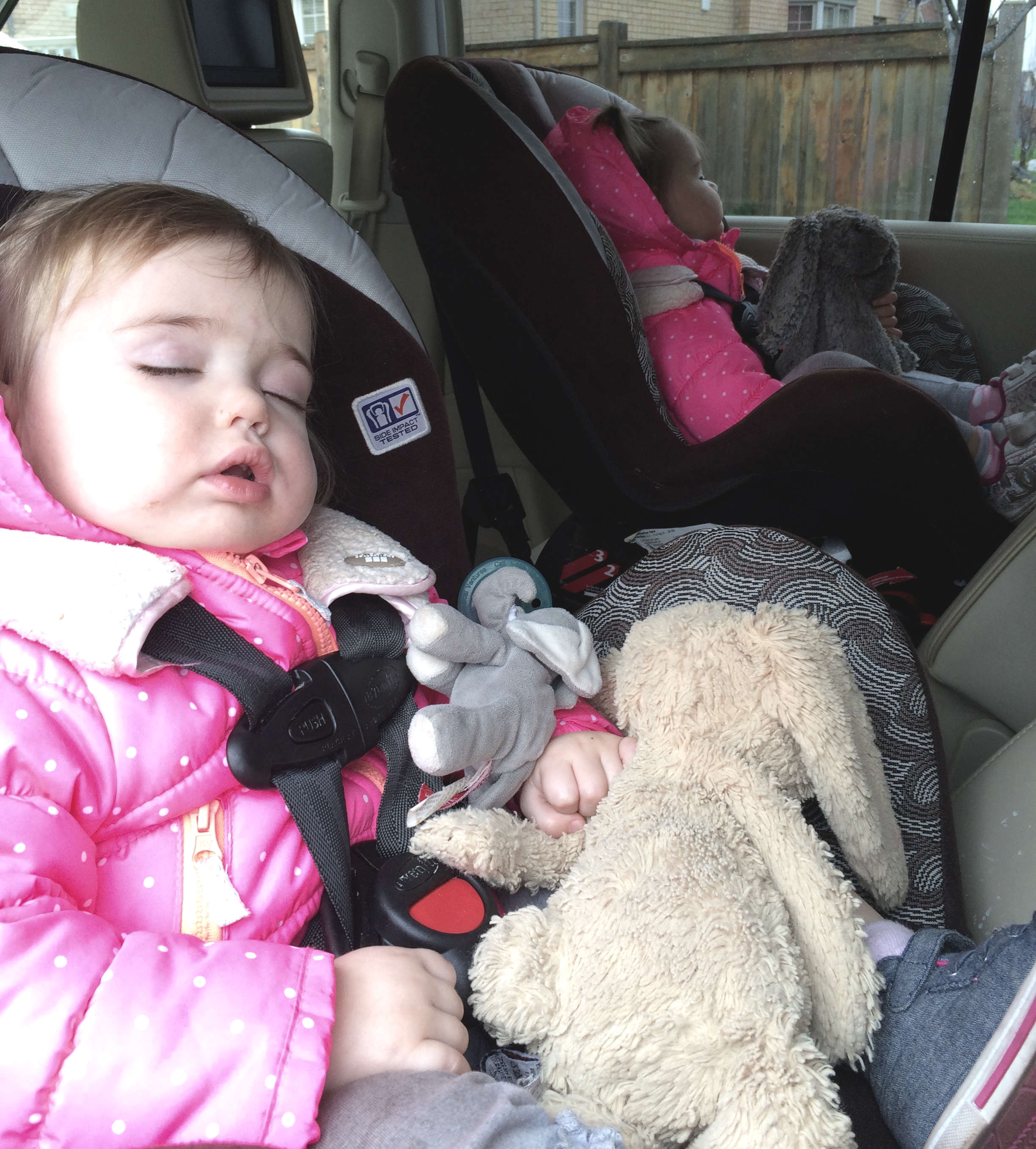 Twins tired after daycare