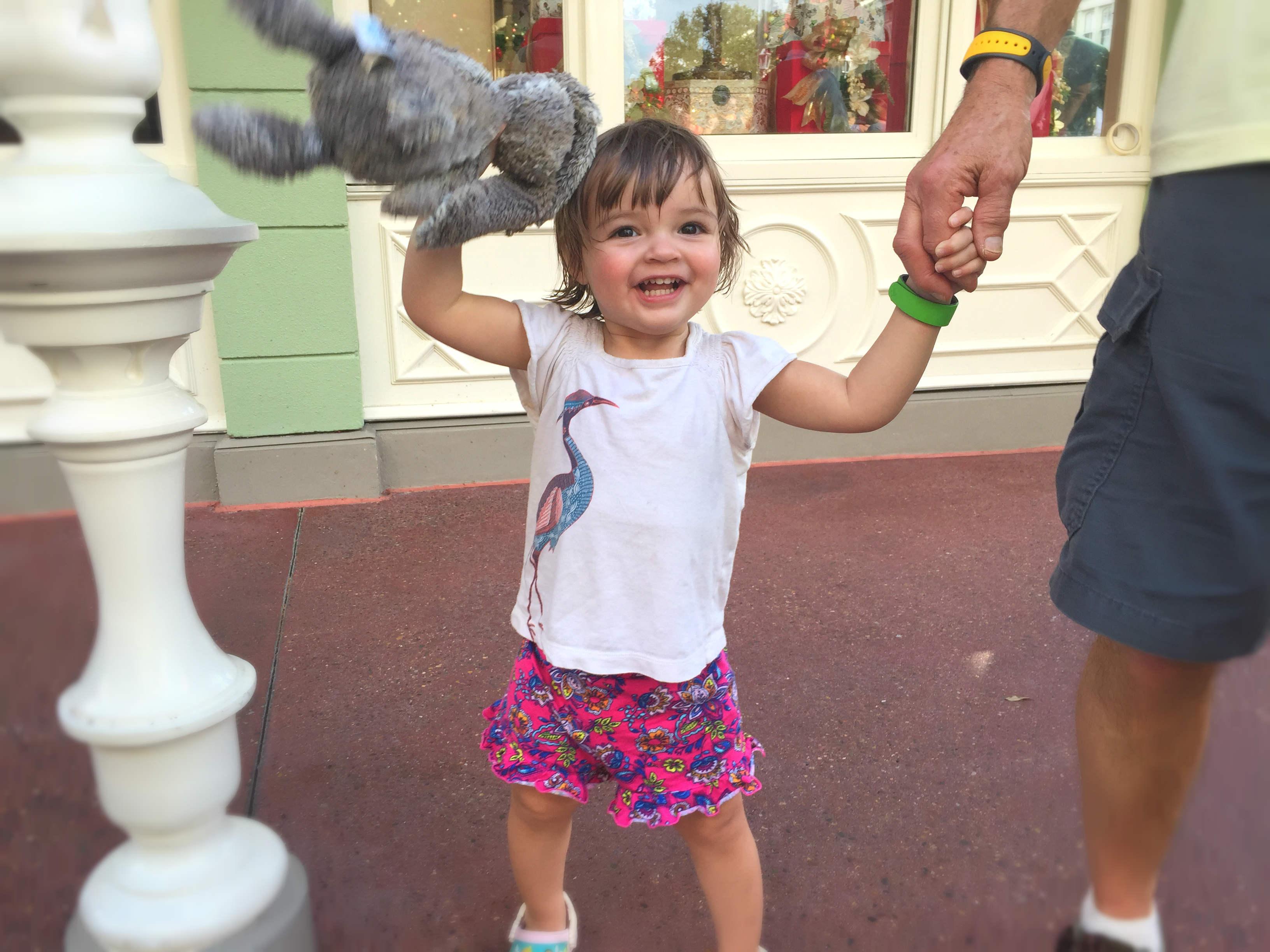 Toddler at Disney World