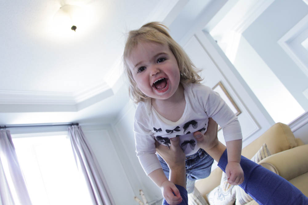 toddler flying