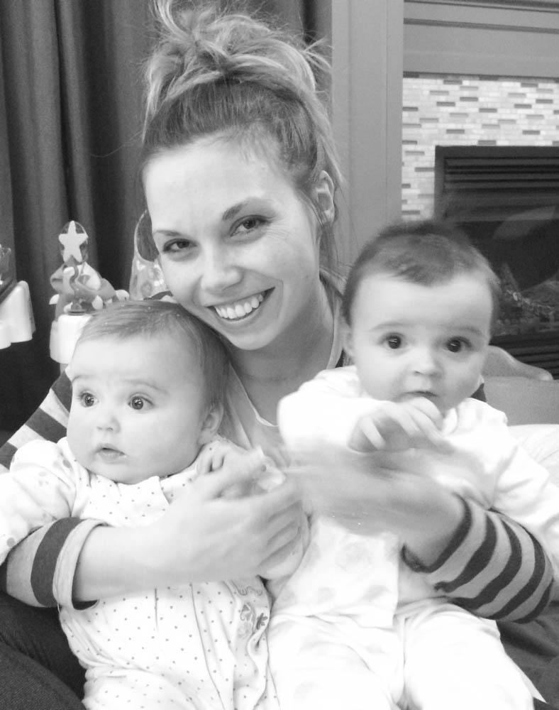 mom and twins