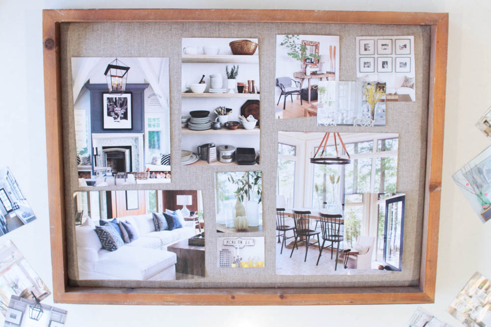 Why i created a vision board for our home digging us out for Home design vision board