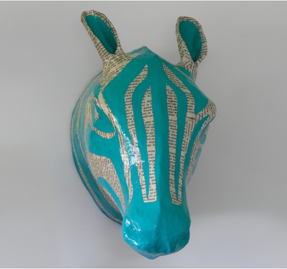 Dwell Studio Zebra Sky Papier Mache Head