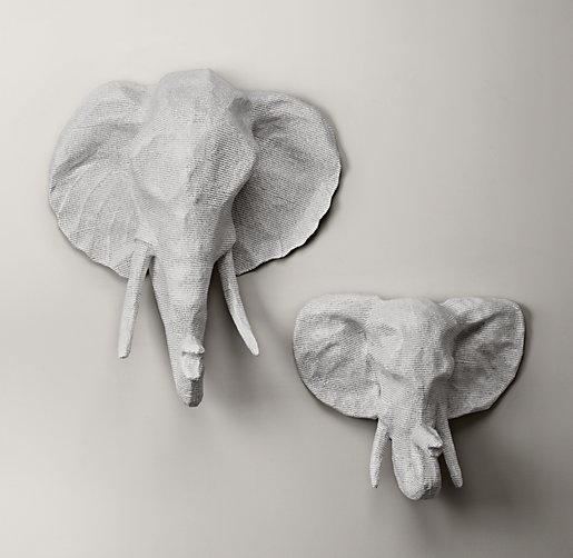 Restoration Hardware Baby and Child Elephant Head
