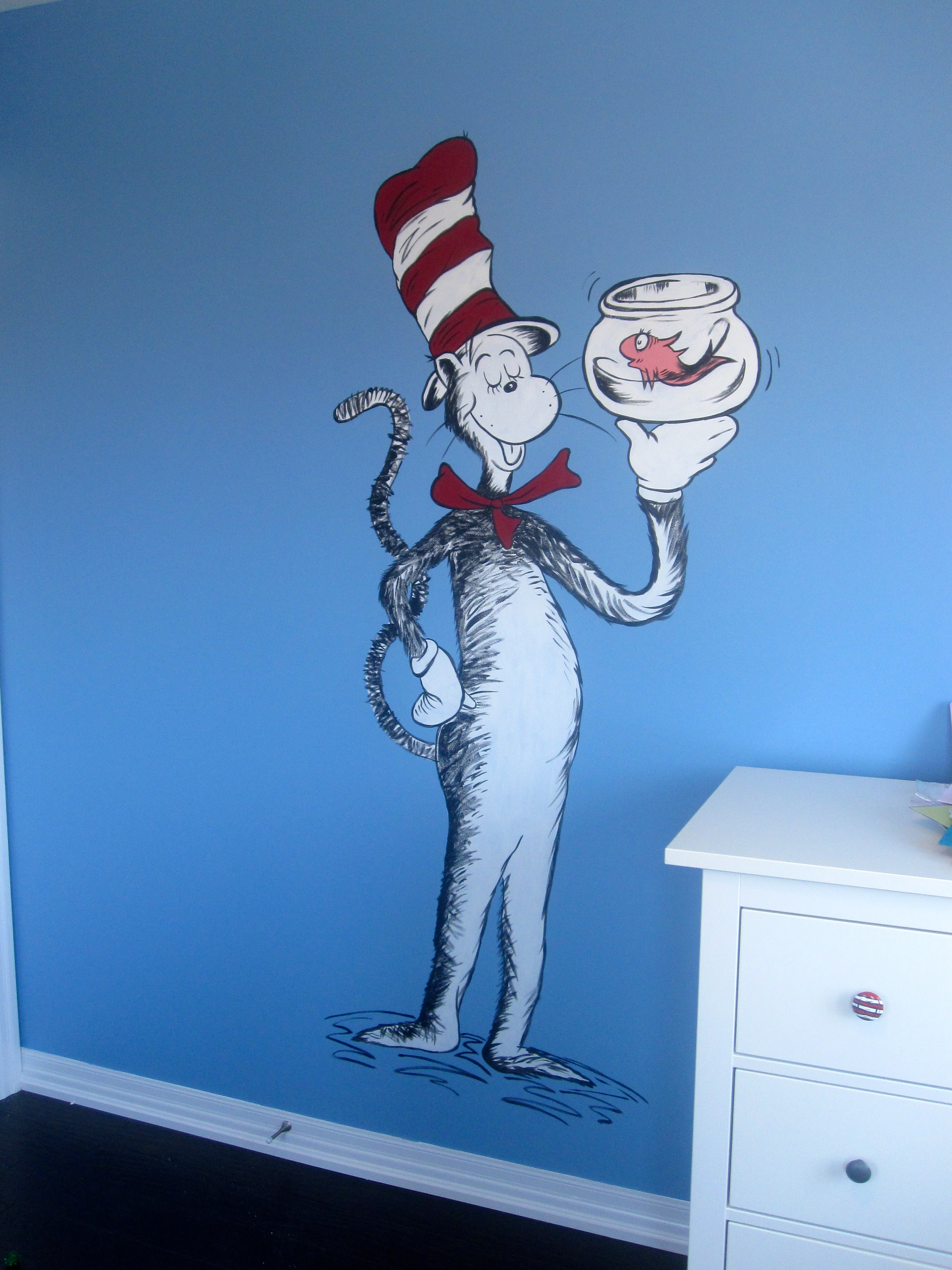 Dr Seuss Cat In The Hat Mural Nursery Child S Room