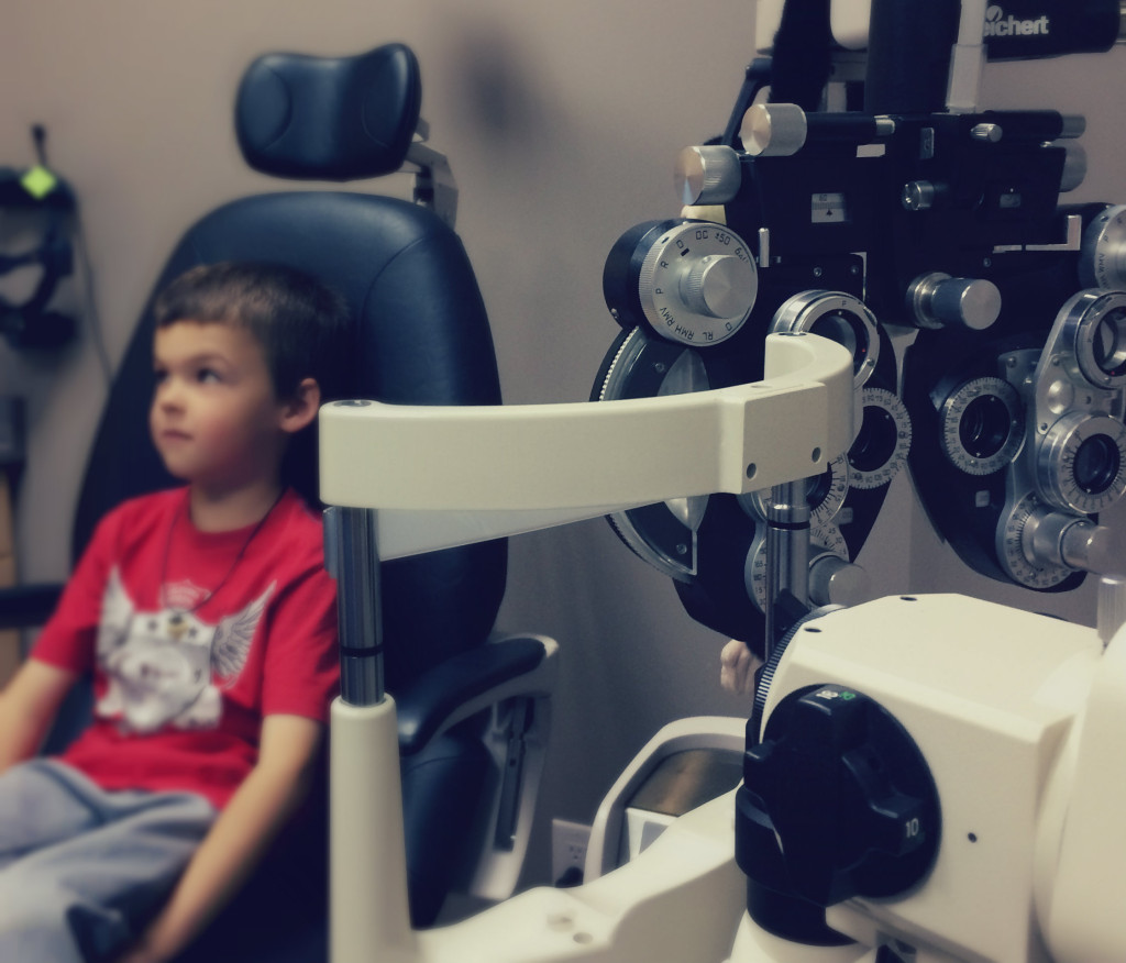 Holden at the eye doctor