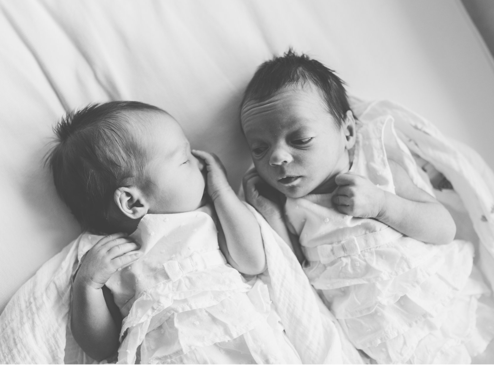 Mia and Everly Newborn By Sarah Martin Photography