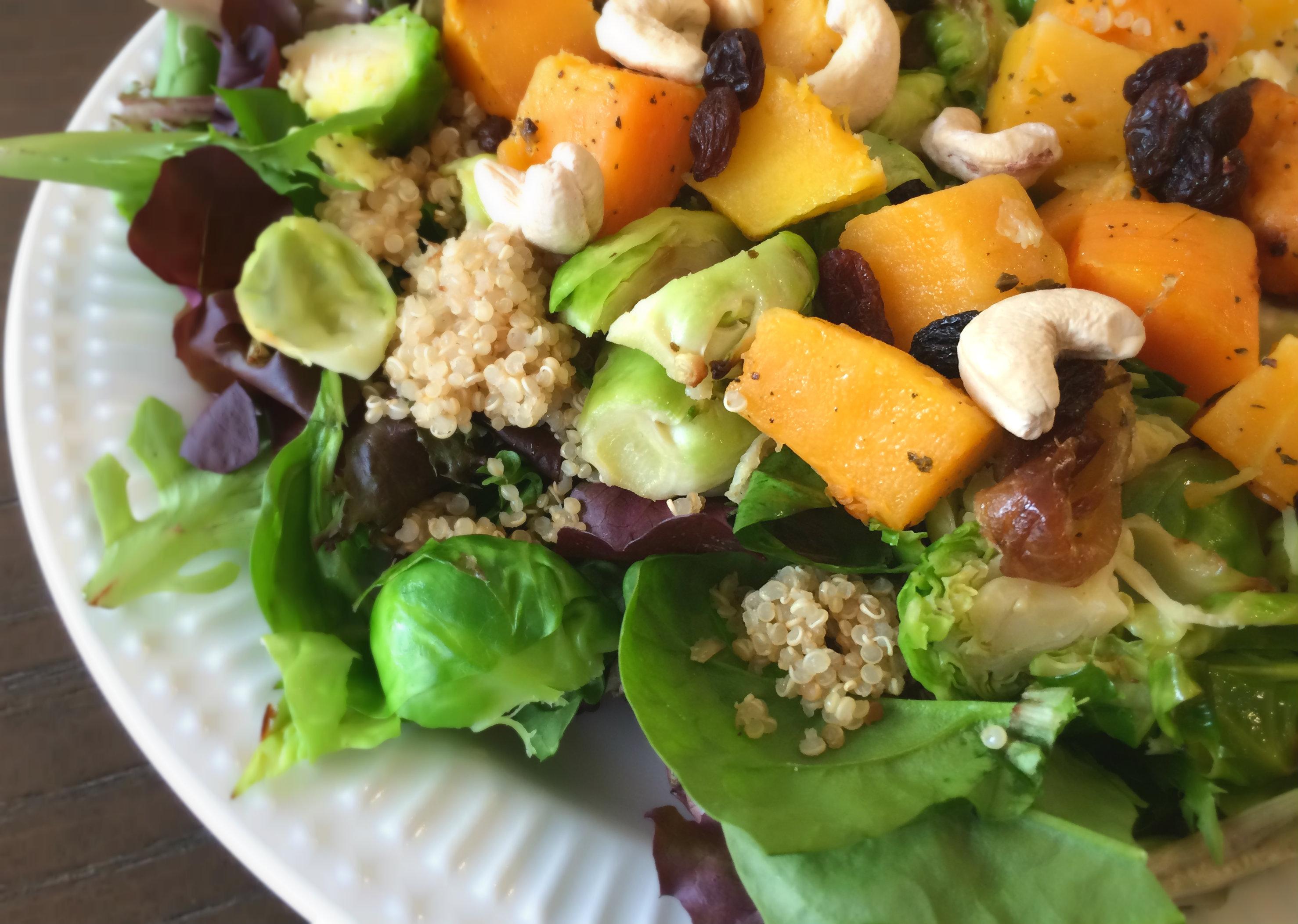 Fall salad - nesting story