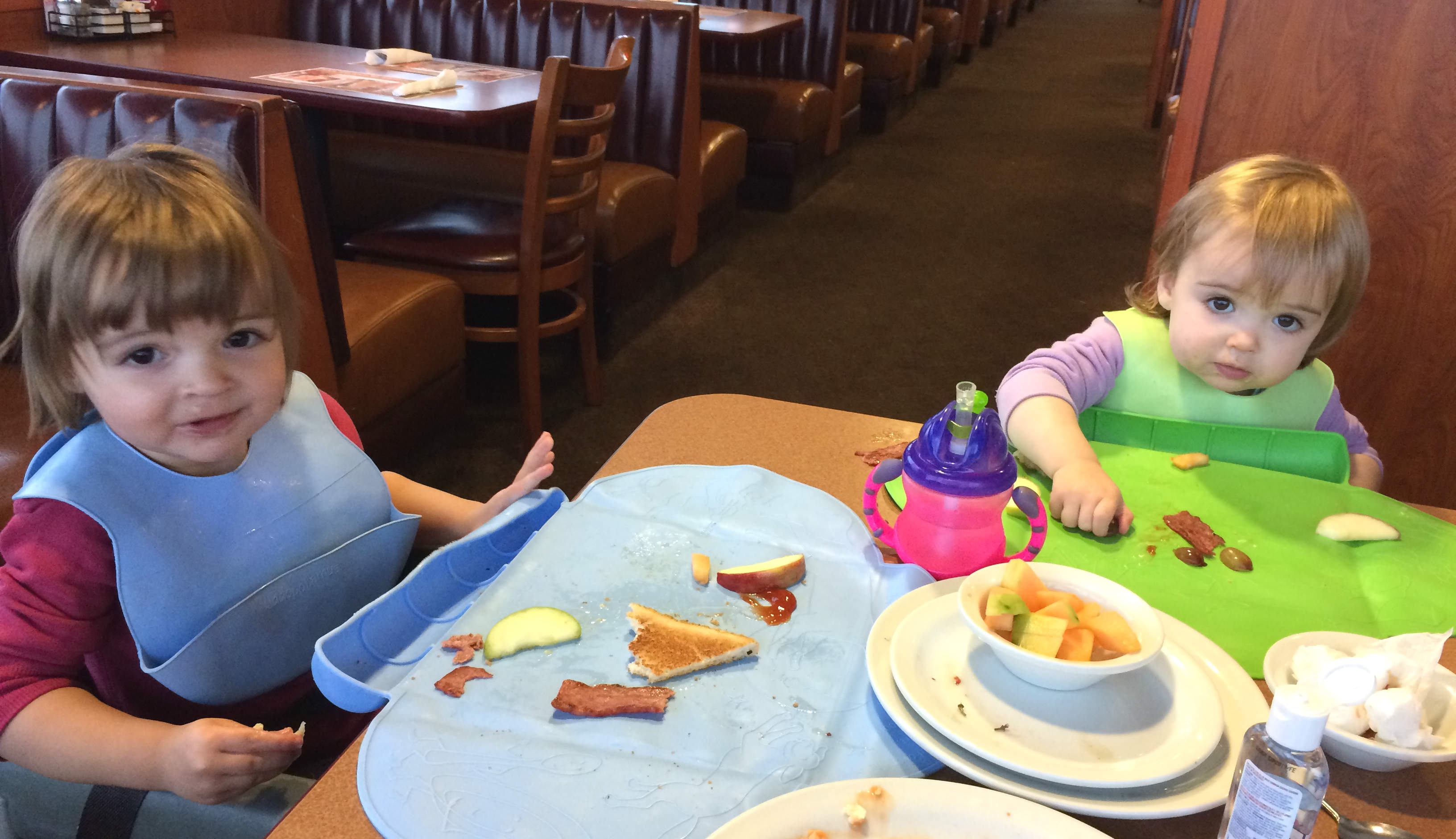Mia and Everly at Dennys