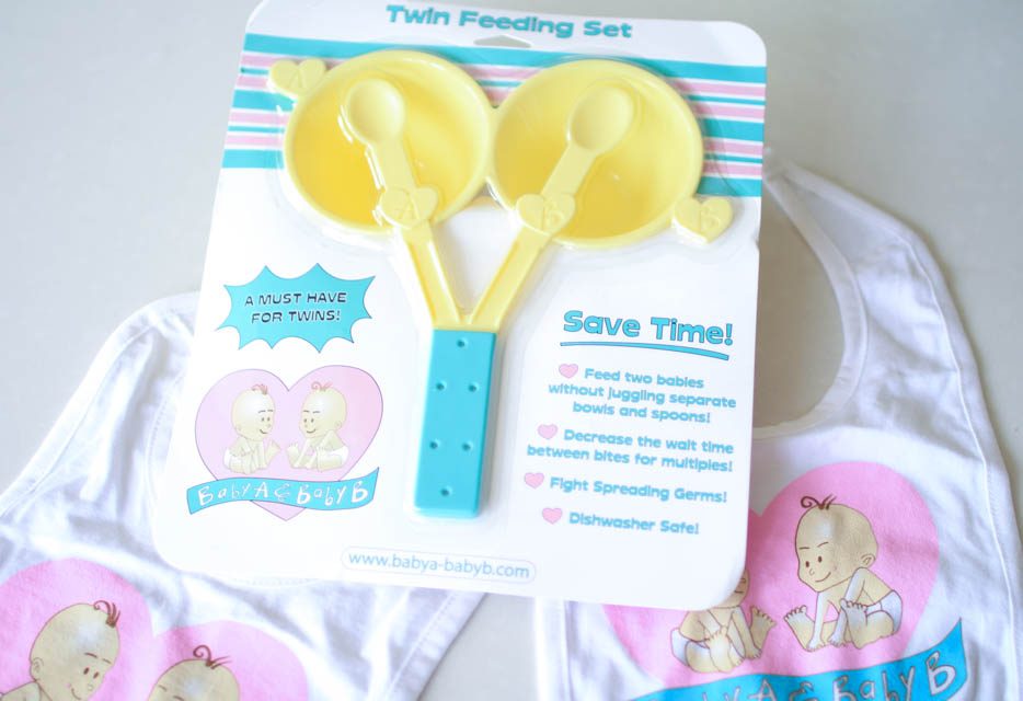 Baby A & Baby B Twin Feeding set