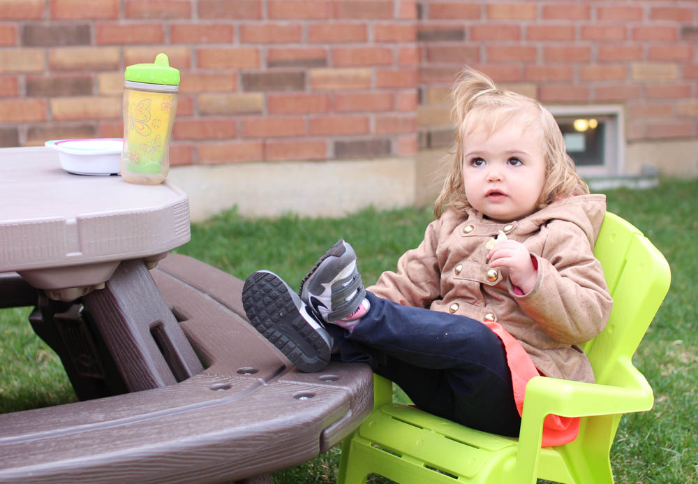 toddler sitting