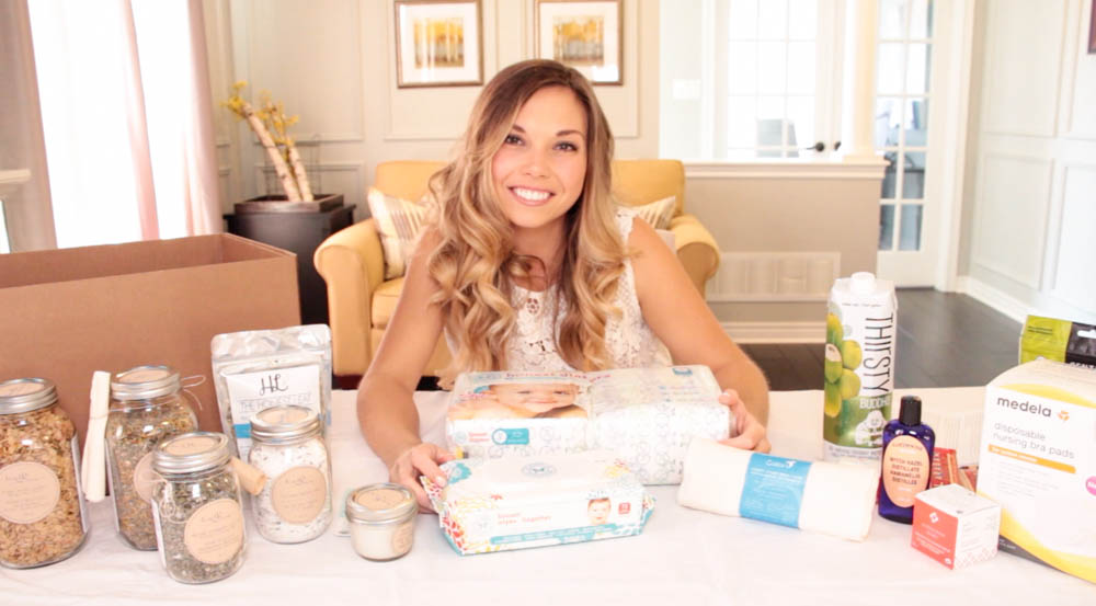 postnatal care package unboxing