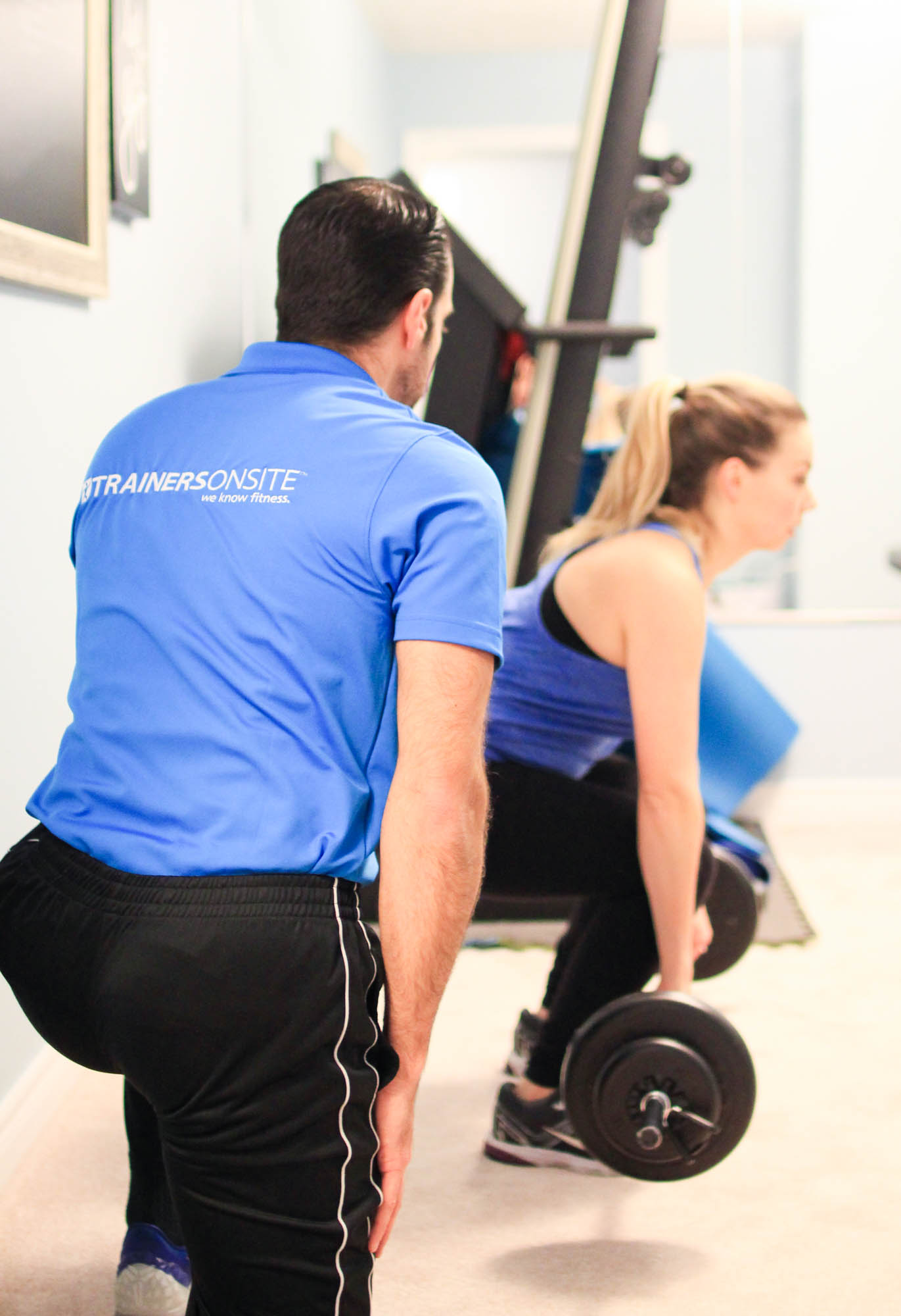 Fitness trainer gets serviced