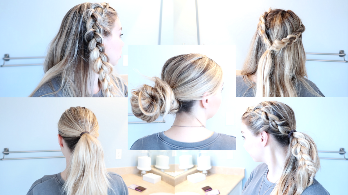 5 Easy styles for long, unwashed hair