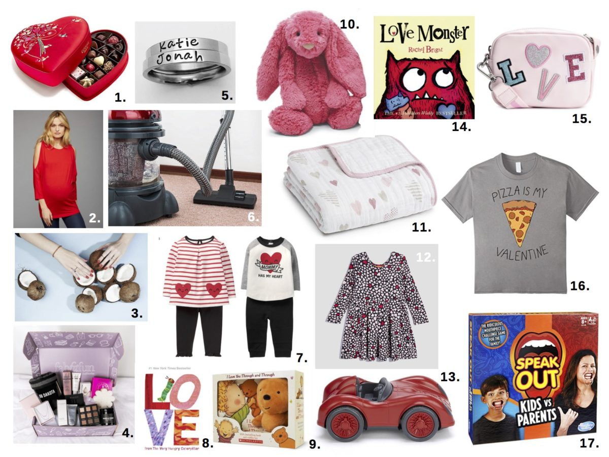Valentine's Day gift guide for the expecting mom, new mom and the kids