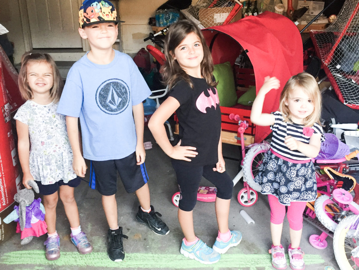 Four kids and the logistics, tips and tricks on how I get out the door to school/daycare safely with them