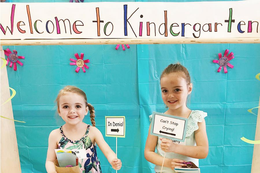Twins starting kindergarten