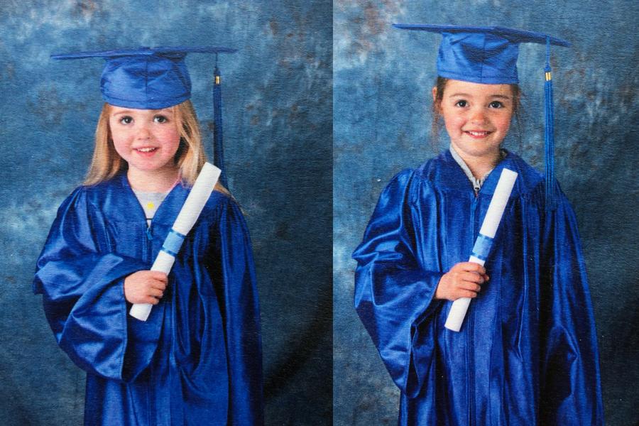 twins graduating daycare