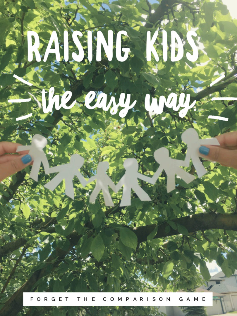 Raising Kids the easy way, forget the comparison game - Lindsay Fricker for Nesting Story