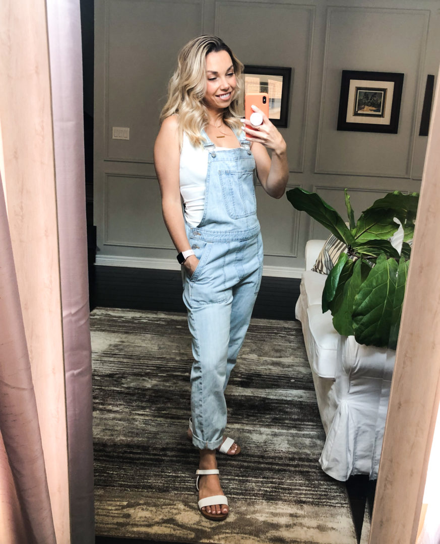 Gap overalls for a casual summer fashion look