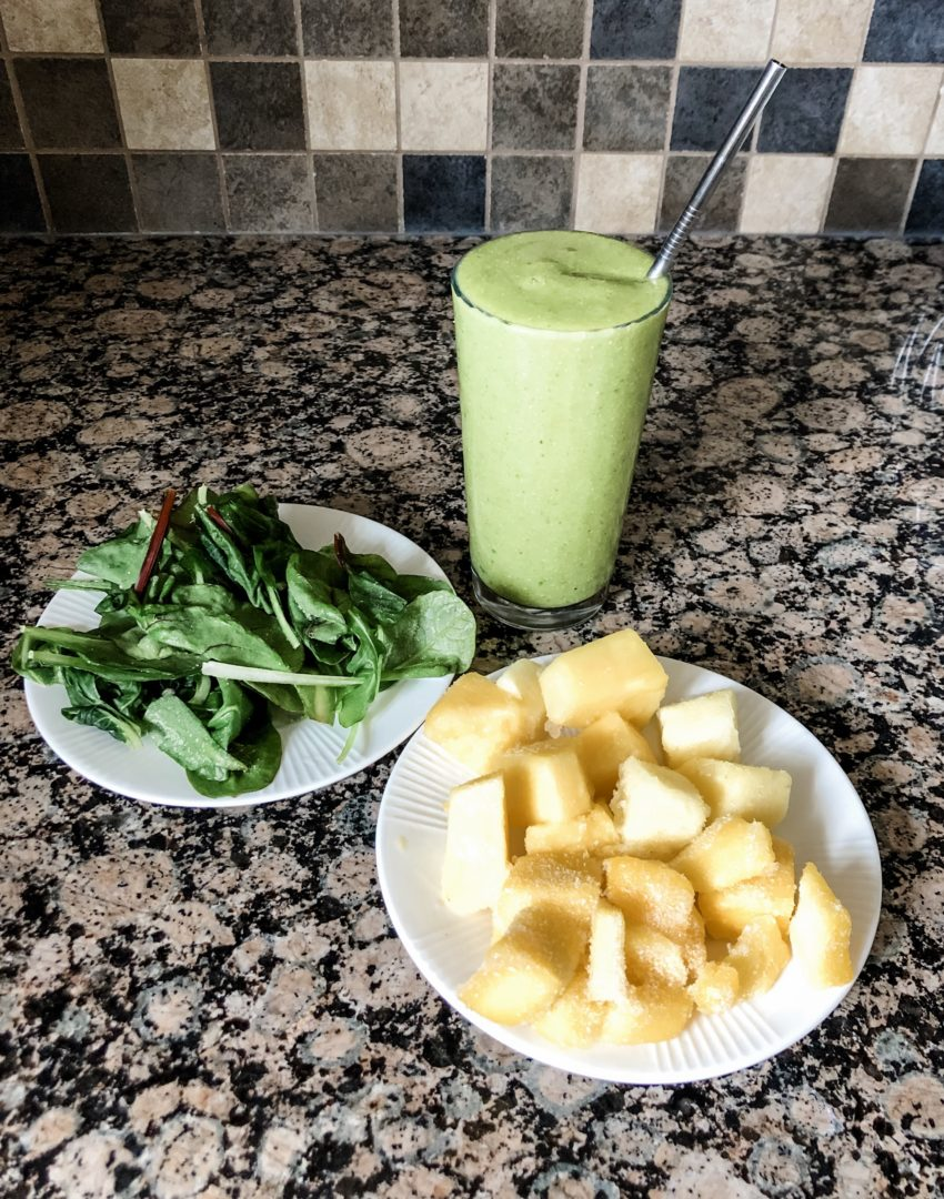 green pineapple mango smoothie recipe