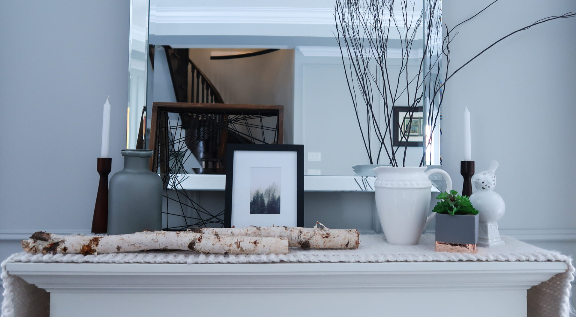 modern winter mantle makeover