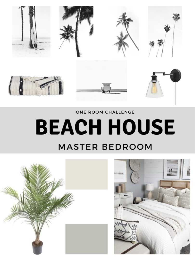 Beach House Master Bedroom Moodboard