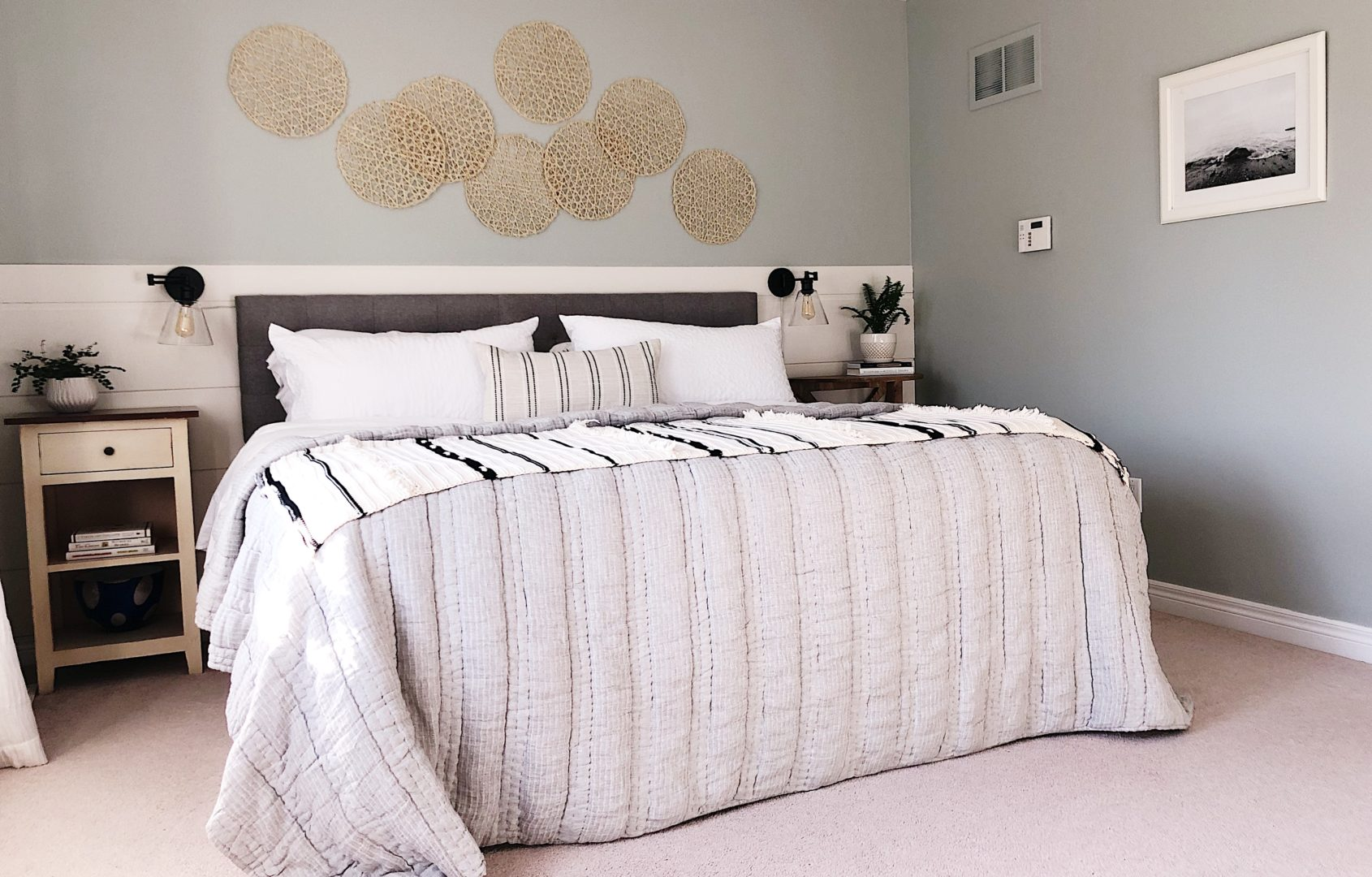 Beachy Master Bedroom Nesting Story